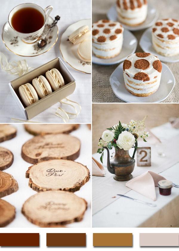 коричневый на свадьбе
