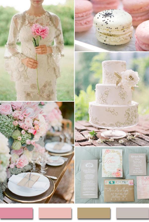 розовый и серый на свадьбе