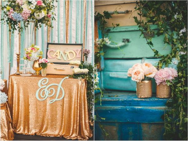 мятная цветовая гамма на свадьбе