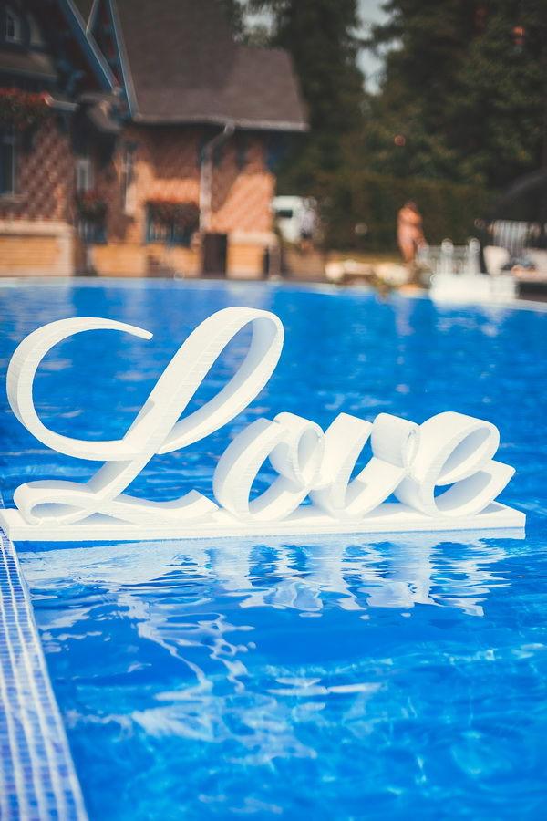объемные буквы на свадьбе