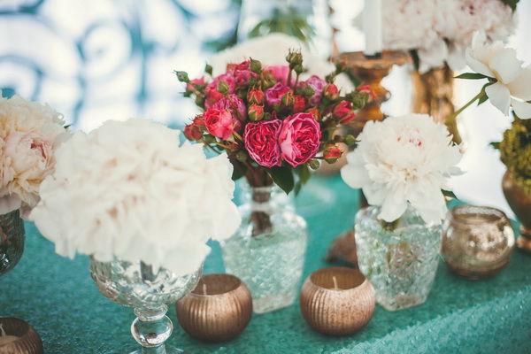 мятный цвет в оформлении свадьбы