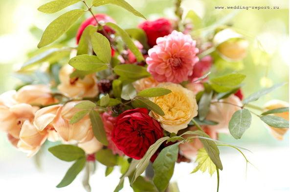 букет цветов на фотосессии