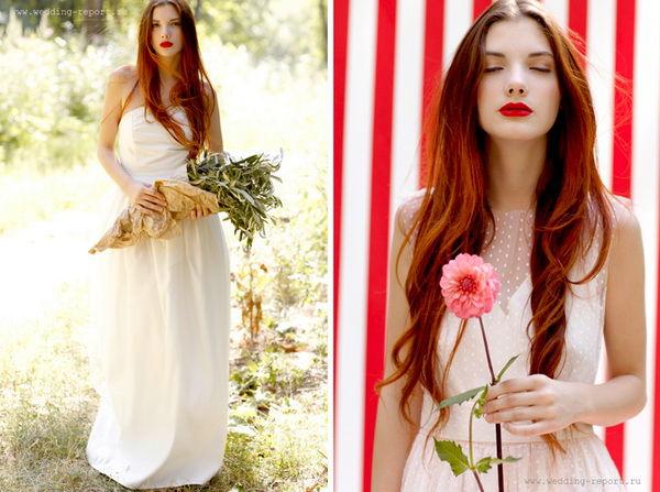 образ невесты с красным