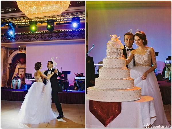 свадебый белый торт