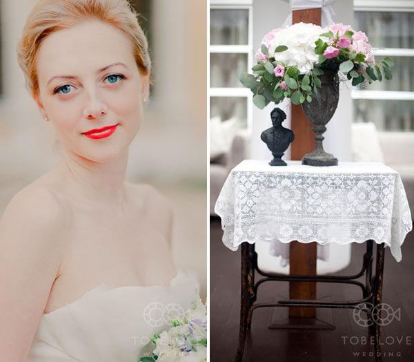 нежный образ невесты