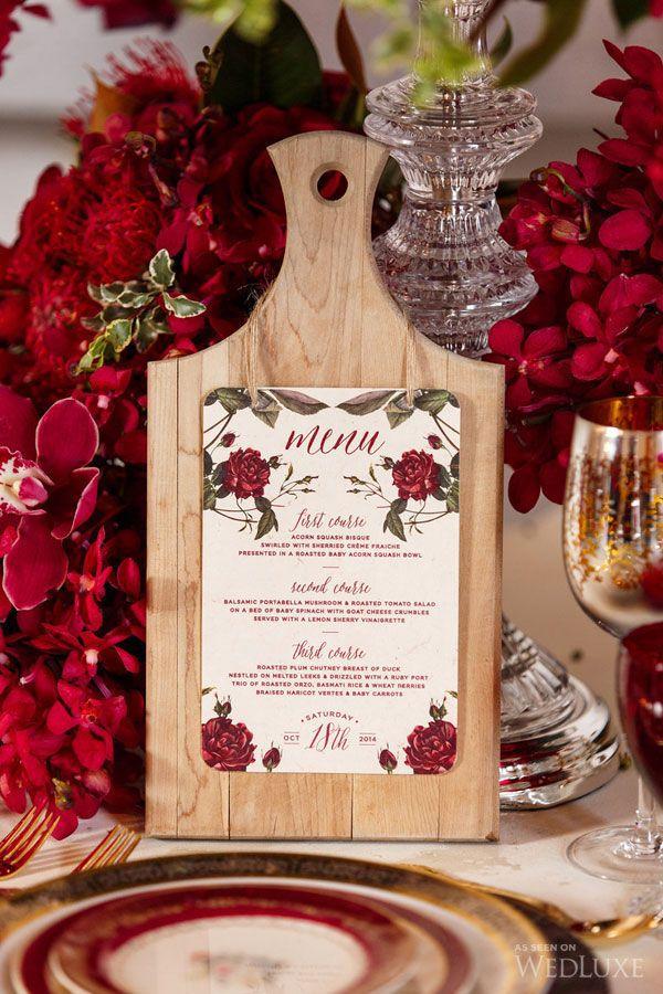 оформление свадьбы в красном