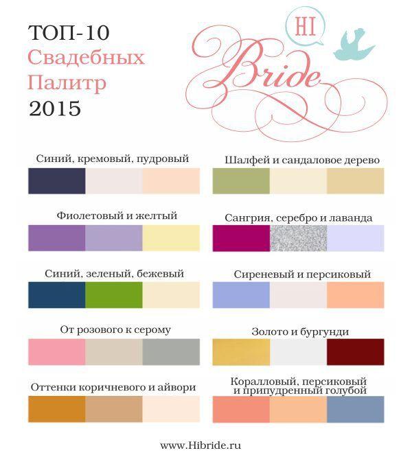цвет свадьбы 2015