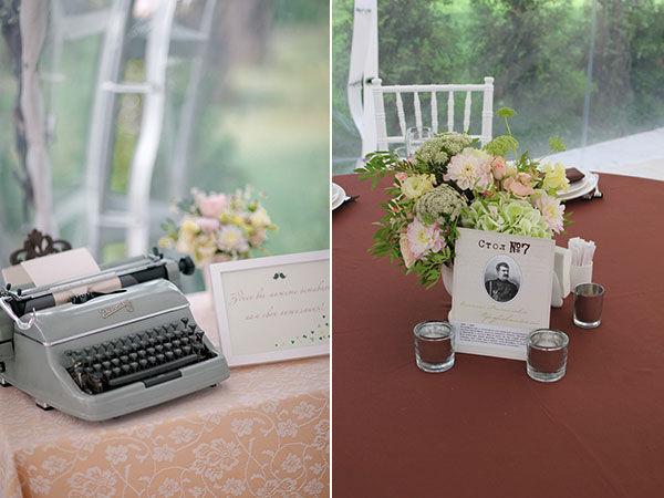 оформление свадьбы в стиле винтаж