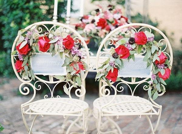 цветы в декоре свадьбы