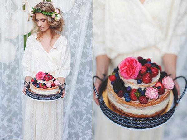 торт для фотосессии в стиле бохо