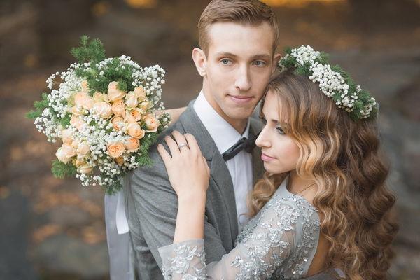 Осеняя свадьба с гипсофилой