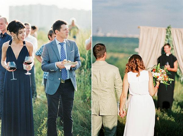 свадебная церемония летом