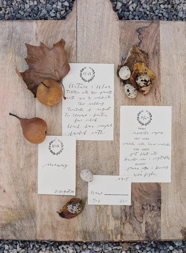 свадебные приглашения осенью