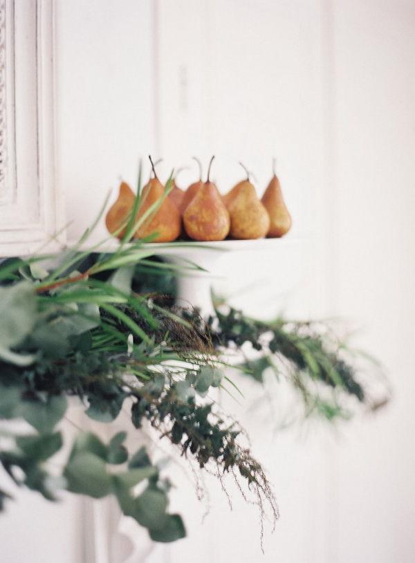 фрукты в оформлении свадьбы