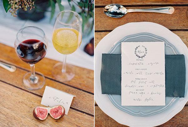стилизованная свадьба осенью