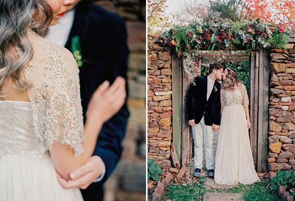 стилизованные свадьбы осенью