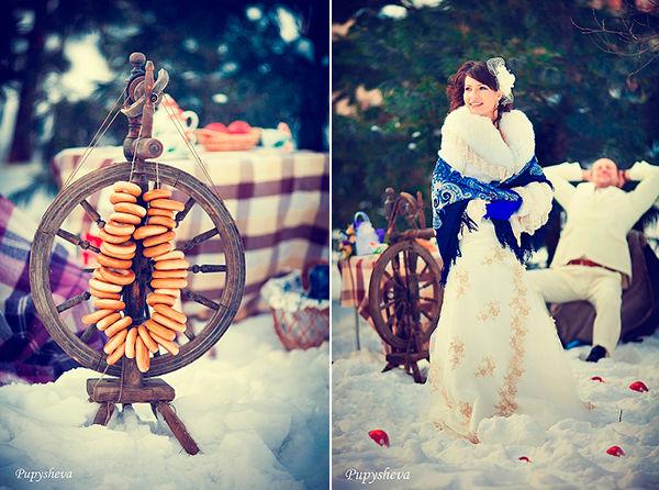 свадьба в стиле русской зимы