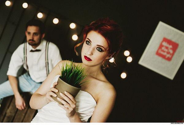 оригинальный образ невесты