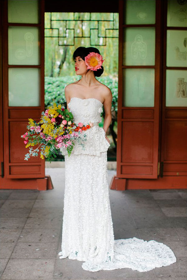 свадебный образ в стиле бохо