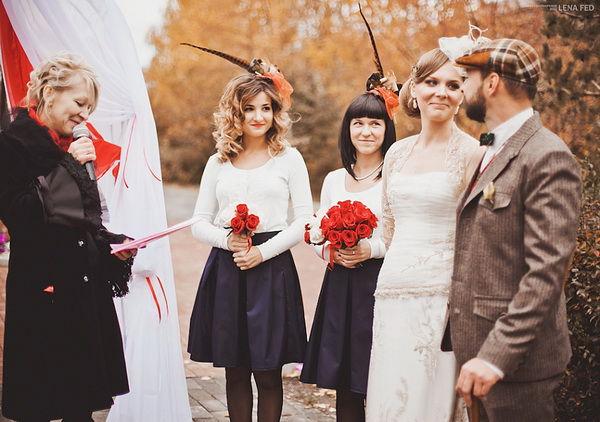 свадьба осенью в стиле