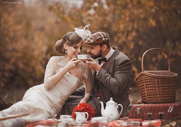 осенняя свадьба на природе