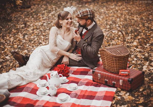 свадебная фотосессия пикник
