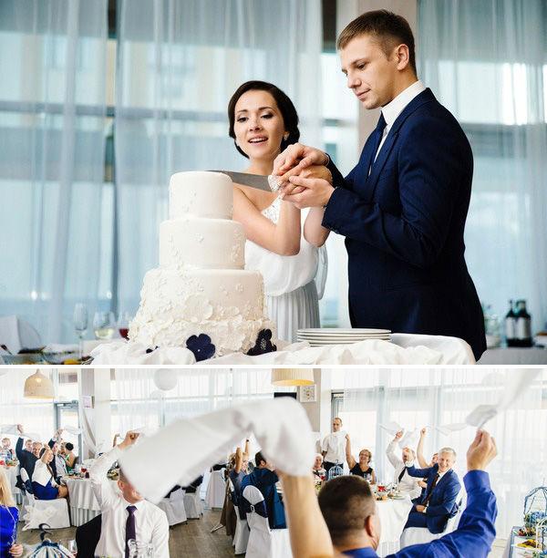 свадебный торт белого цвета