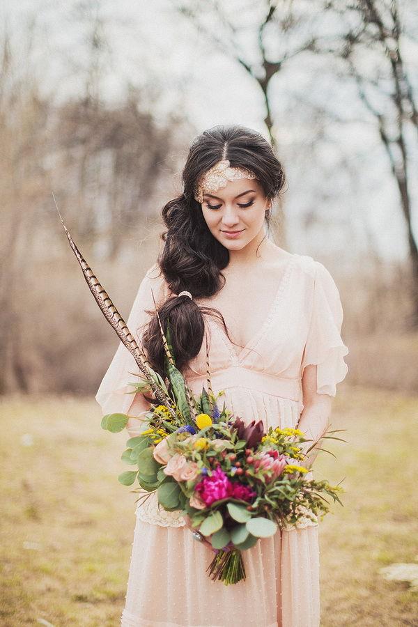 букет невесты бохо