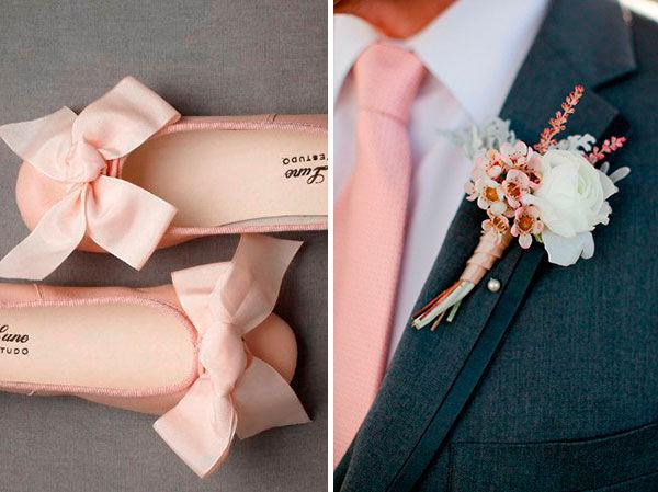 розовый цвет на свадьбе