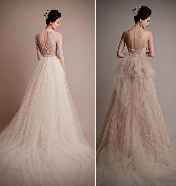 небелые свадебные платья