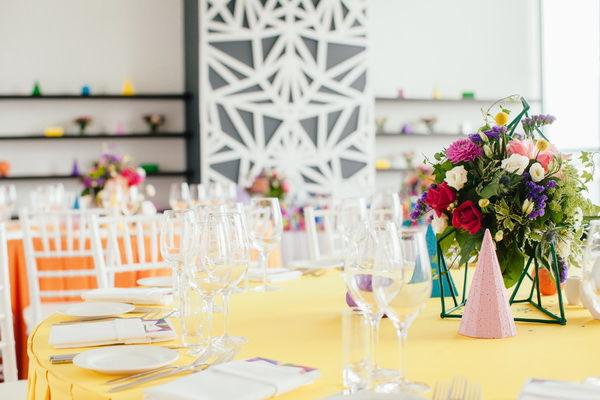 геометрический стиль свадьбы