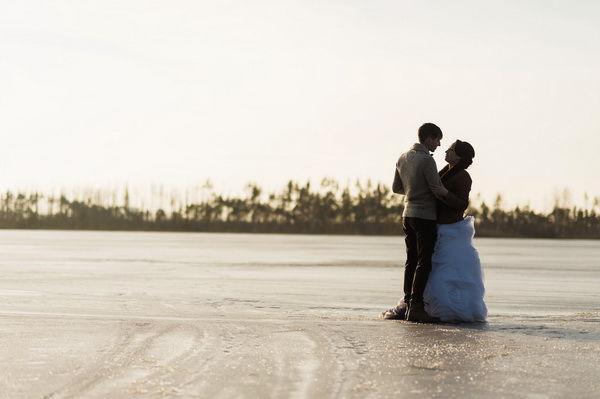 свадебная зимняя фотосессия