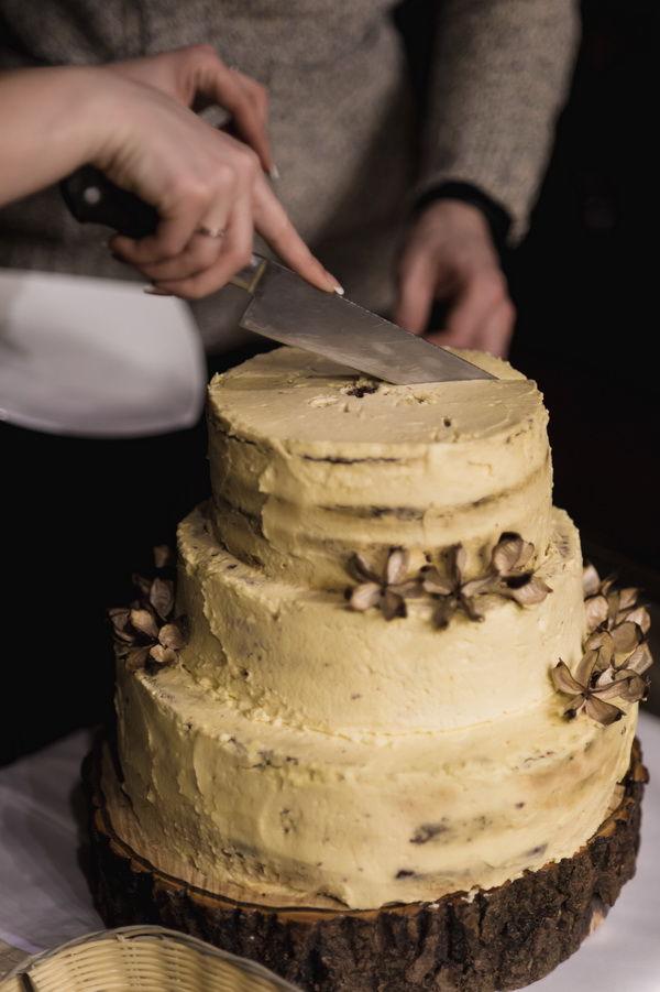 свадебный торт эко стиль