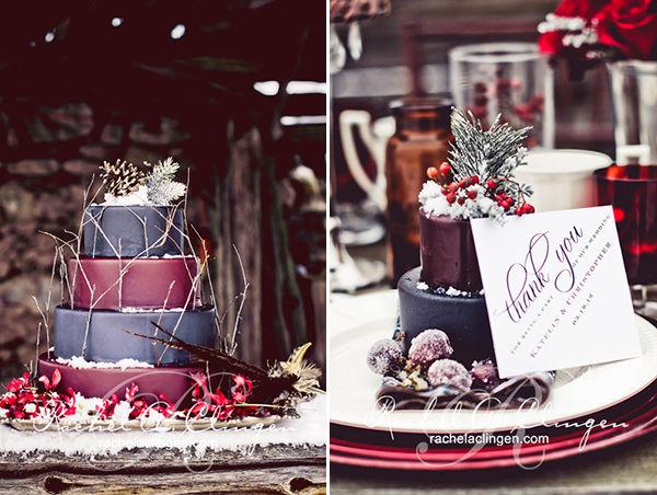 свадебный торт зимой