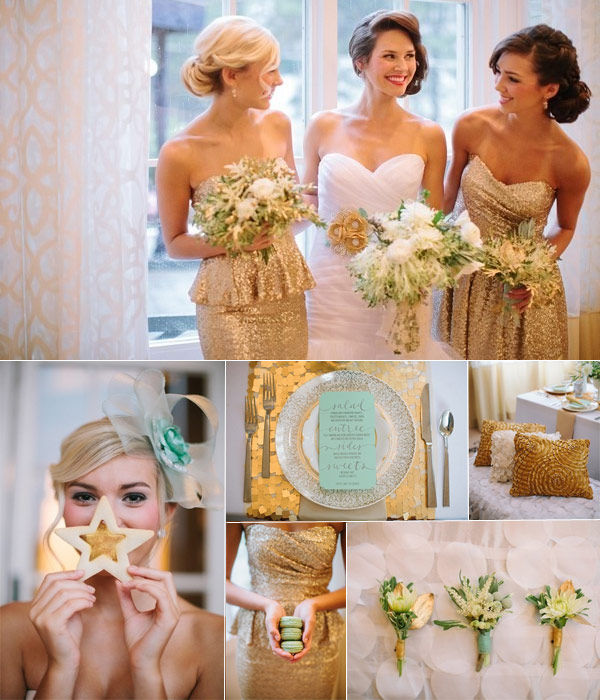 золотой цвет свадьбы фото
