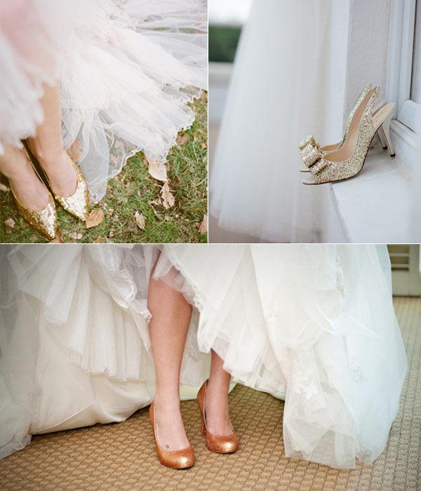 золотые туфли на свадьбе