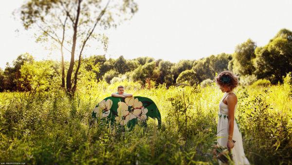 фотосессия в лесу