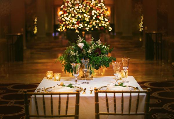зимний декор свадьбы