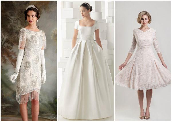 не длинные свадебные платья
