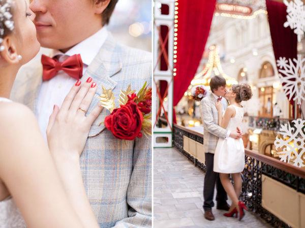 красные аксессуары на свадьбу