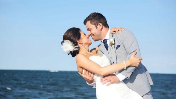 свадебное фото на море