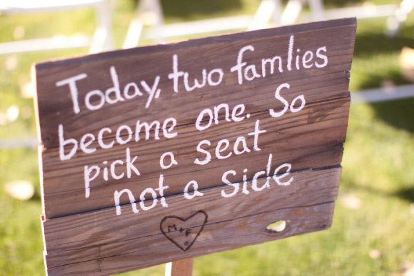 деревянная табличка на свадьбу