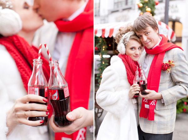 кока-кола на свадьбе