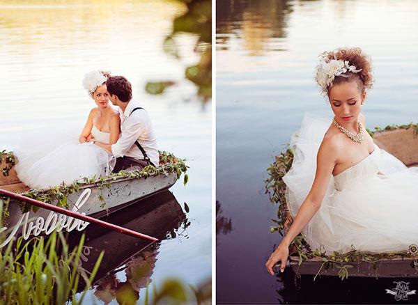 свадебная фотосессия на воде