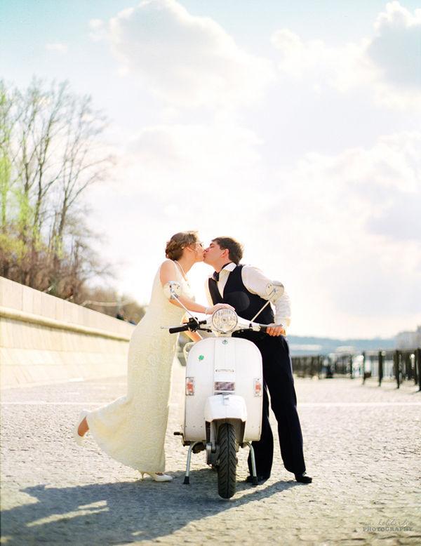 скутер на свадьбе