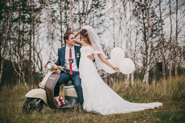 скутер на свадьбу