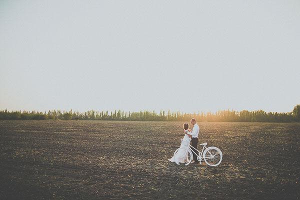 винтажный велосипед на свадьбе