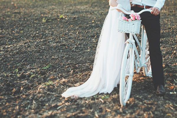 ретро велосипед на свадьбе