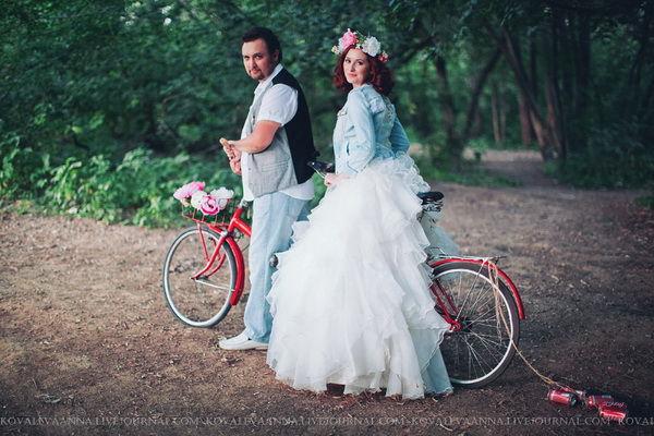велосипед на свадьбе