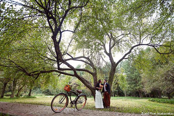 велосипед на свадьбе фото